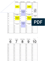 Weekly Calendar 2014 Landscape Time Management