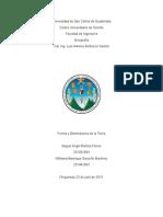 Forma y Dimension de La Tierrra - Trabajo