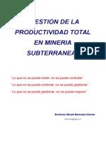 Gestion de Productividad Total Mineria Subterranea