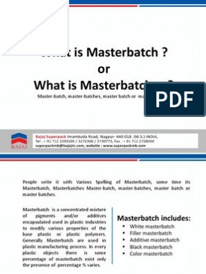 what is masterbatches   Plastic   Polyethylene