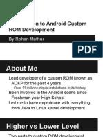 Introduction to Android Custom ROM Development - Illinois Splash Presentation