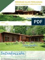 Arquitecto frank Lloyd Wright casa Jacobs