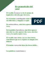 Curiosidades Gramaticales Del Idioma
