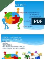 POLITICAS ORGANIZACIONALES