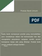 Produk Bank secara Umum