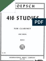 416 Studies for Clarinet - Kroepsch