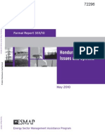 Honduras- Power Sector Issues and Options