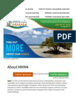 2016 Mangrove and Macrobenthos Meeting 1st Flyer