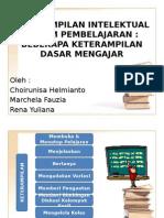 Keterampilan Intelektual Dalam Pembelajaran
