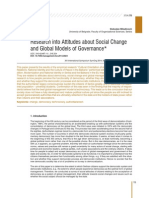 Research into Attitudes about Social Change and Global Models of Governancee Management 72 English 02