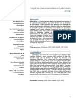 Cognitive Characterization of a Pilot Studyy Group