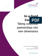 In a Good Company – Taking Corporate Partnerships Into New Dimensions