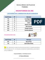Lista de Monitores e Colaboradores