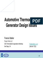 Automotive Thermoelectric Generator Design Issues
