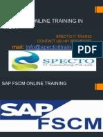 Sap Fscm Online Training in india