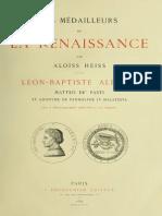Les médailleurs de la Renaissance. [IV]:Léon-Baptiste Alberti, Matteo de' Pasti, et anonyme de Pandolphe IV Malatesta / par Aloïss Heiss