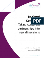 In Good Company – Taking Corporate Partnerships Into New Dimensions