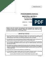 MAZAK Matrix2 EIA ProgManual