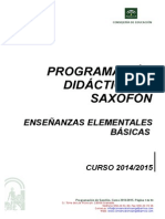 Programacin Saxofn 2014-20151