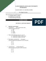Model Paper MA (English Literature) 2015