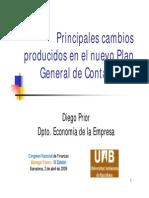 Nuevo Plan General de Contabilidad, Principales Cambios