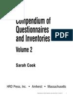 Compendium of Questionnaires and Inventories Volume 2
