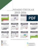 Calendario Escolar Oficial 2015 2016