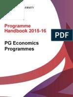 Programme Handbook Economics