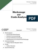 Werkzeuge Zur Code-Analyse - Presentation
