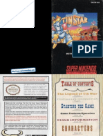 Tin Star Manual SNES
