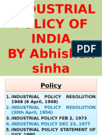 New Industrial Policy of India