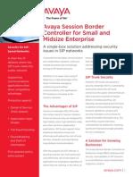 Avaya SBCE SME Platform Fact Sheet