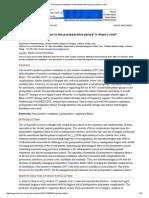 Non-Invasive Ventilation in the Postoperative Period_ is There a Role