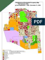 University East Neighborhood Residential Occupancy Map Fall
