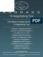Negotiating Tips