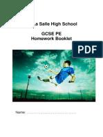 gcse pe homework book