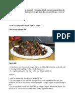 Cách Nấu Thịt Chó Rượu Mận Ngon Nhất