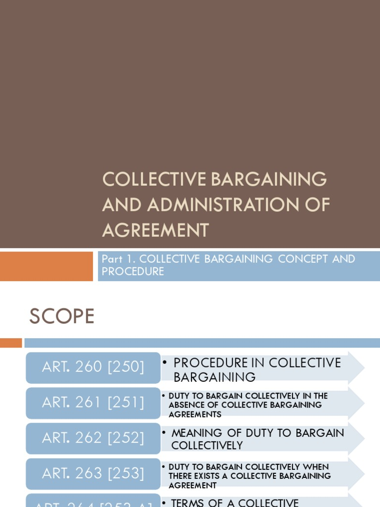 Collective Bargaining And Administration Of Agreement | Collective  Bargaining | Ratification