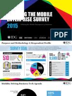 2015 IDG Enterprise Building the Mobile Enterprise Survey