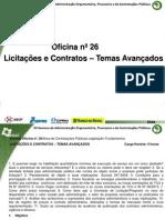 Oficina nº 26 Licitações e Contratos – Temas Avançados