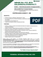 Convocatoria Interna 013 -2015