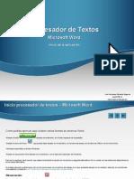 Inicio Word Procesador de Textos