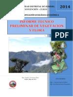 Tematico Preliminar de Flora y Vegetacion