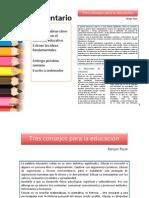 Tres Consejos Para La Educacion (TEORIA de LA EDUCACION)