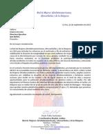 Carta Red de Mujeres Afrolatinoamericanas, Afrocaribeñas y de la Diáspora (RMAAD)