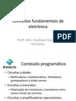 Aula 1 - Conceitos Fundamentais de Eletronica