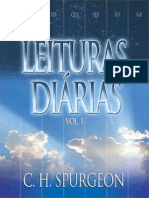 Leituras Diárias Vol. 1 - c. h. Spurgeon