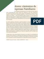Los Valores en Empresas Familiares
