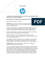 Transform your customer's infrastructure and accelerate your profitability with HP Networking converged campus offerings