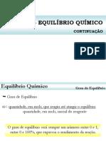 Aula 3 - Constante e Grau de Equilíbrio